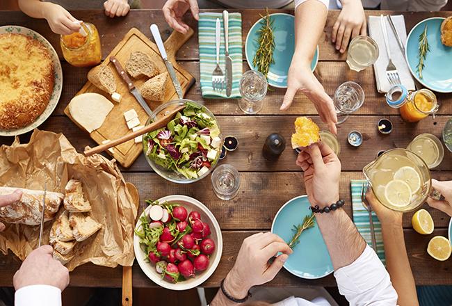 Having meal together